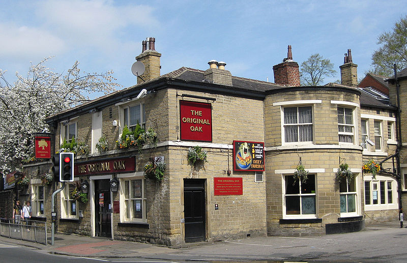 Shire Oak pub, site of the Saxon Shire Oak
